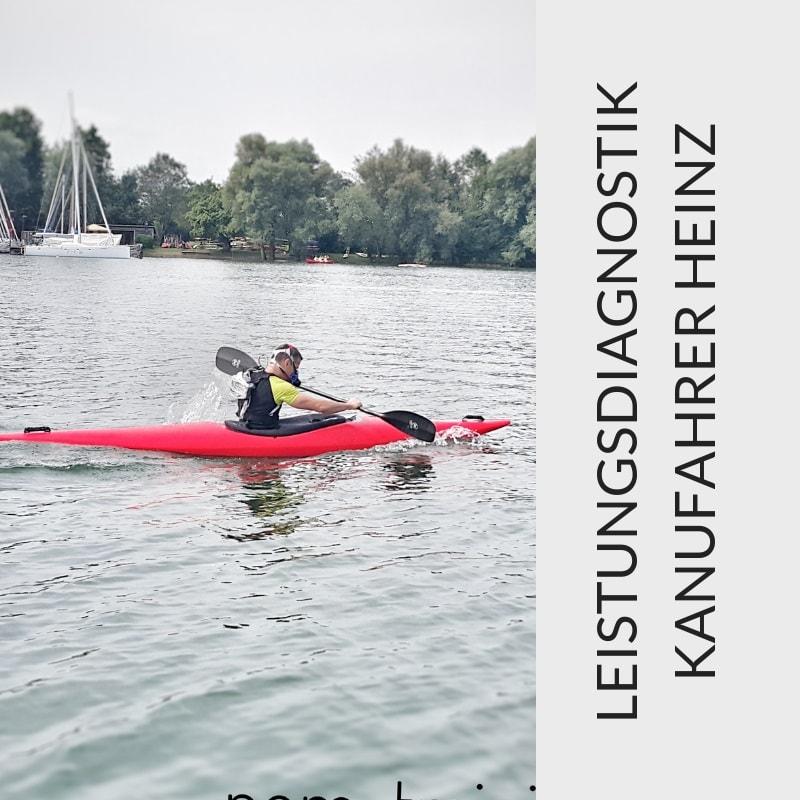 Leistungsdiagnostik Kajak – fahren mit Heinz Spirk