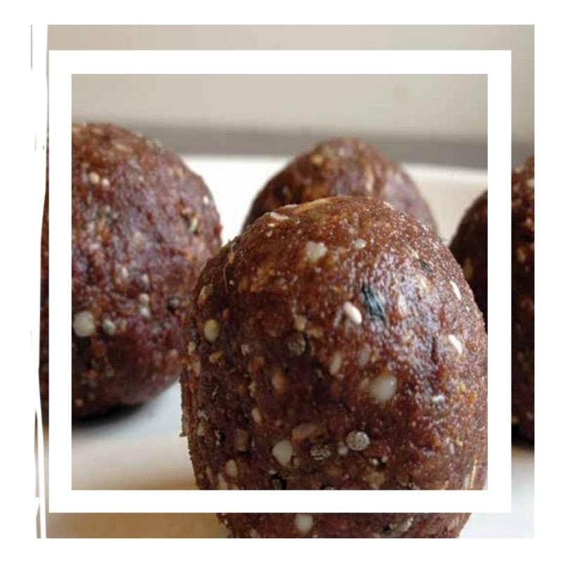 NOM Schokolade Protein Bälle